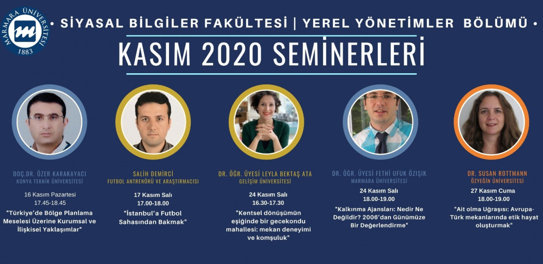 Kasım 2020 Seminerleri